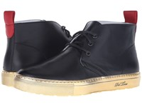 Del Toro Leather Chukka Sneaker With Metallic Trek Sole Black Gold Men's Shoes