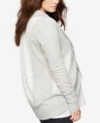 A Pea In The Pod Maternity Open Front French Terry Cardigan Light Mid Grey