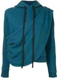 Unravel Project Terry Draped Hoodie Blue