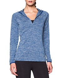 Under Armour Ua Tech Hooded Henley Navy Blue
