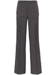 Prada Side Stripe Logo Track Pants Grey