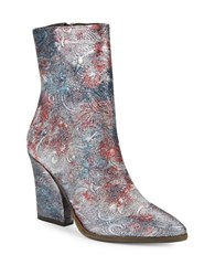 Free People Mystic Charms Patterned Boots Silver