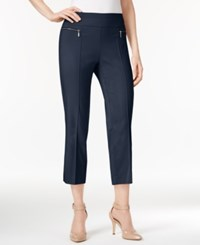 Style And Co Petite Pull On Cropped Pants Only At Macy's Industrial Blue