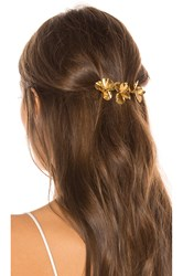 Jennifer Behr Pansy Barrette Metallic Gold