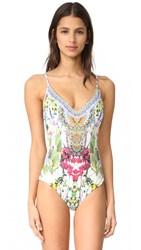 Camilla Scoop Back High Triangle One Piece Exotic Hypnotic