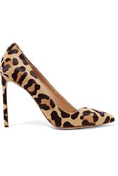 Francesco Russo Leopard Print Calf Hair Pumps Leopard Print