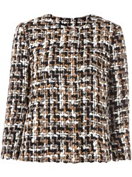 Dolce And Gabbana Tweed Jacket Multicolour