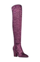Nine West Women's Siventa Over The Knee Boot Purple Fabric