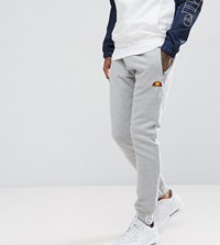 Ellesse Skinny Joggers With Repeat Logo Cuff Grey
