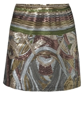 Bloom Mini Skirt Gold Multicoloured