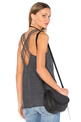 Chaser Criss Cross Strappy Cami Charcoal
