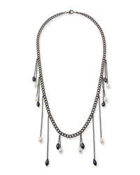 Hipchik Sari Multi Pearl Drop Necklace