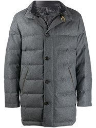 Canali Padded High Neck Coat 201