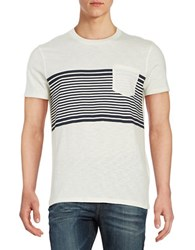 Selected Striped Pocket Tee White