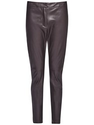 French Connection Atlantic Faux Leather Trousers Black Coffee