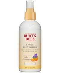 Burt's Bees Violet And Mango Sheer Body Lotion