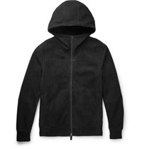 Berluti Shearling Hooded Bomber Jacket Black