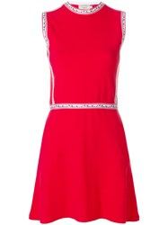 Maison Kitsune A Line Dress Red