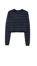Tibi Nautical Stripe Cropped Pullover