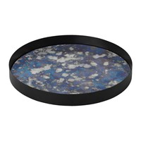 Ferm Living Round Coupled Tray Blue Large