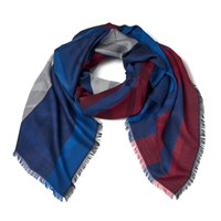 Kenzo Jaquard Tiger Head Scarf Red White Blue