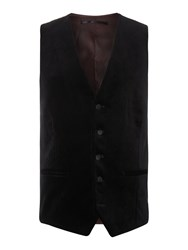 New And Lingwood Ropsley Velvet Waistcoat With Satin Trim Black