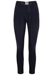 High Skive Navy Stretch Jersey Jogging Trousers