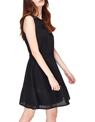 Miss Selfridge Sleeveless Lace Skater Dress Black