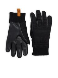 Ugg Leather And Wool Smart Glove Black