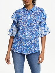 Lily And Lionel Frankie Forget Me Knot Print Shirt Blue