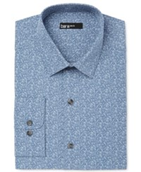 Bar Iii Men's Slim Fit China Blue Floral Dress Shirt Only At Macy's