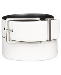Calvin Klein Men's Reversible Leather Belt Powder White