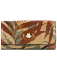 Patricia Nash Palm Leaves Maria Wallet Multi Gold
