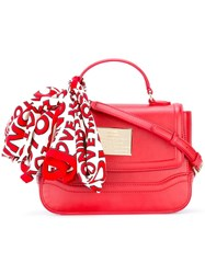 Love Moschino Scarf Detail Tote Red