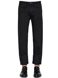 Valentino 21.5Cm Cotton Denim Pants Black