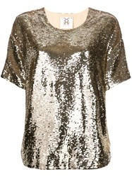 Figue Layla Sequin Top Gold