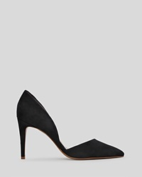 Reiss Pointed Toe D'orsay Pumps Brina High Heel Black