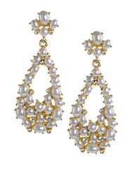 Kenneth Jay Lane Faux Pearl Teardrop Earrings