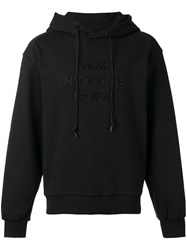 Juun.J Embroidered Hoodie Black