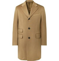 Thom Sweeney Slim Fit Wool And Cashmere Blend Overcoat Brown
