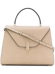 Valextra Large Envelope Tote Nude And Neutrals