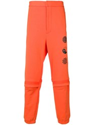 Ambush Logo Track Pants Orange