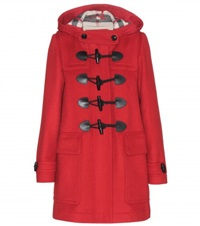 Burberry Minstead Wool Duffle Coat Red