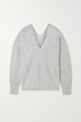 Vince Cashmere And Linen Blend Sweater White