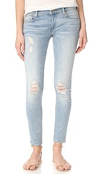 True Religion Casey Low Rise Super Skinny Jeans Paperback Blue Destroyed