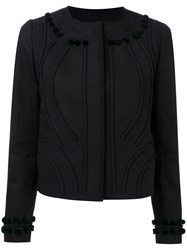 N 21 No21 Pom Pom Trimmed Blazer Black