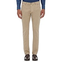 Isaia Men's Slim Fit Jeans Tan