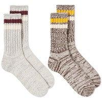 Anonymous Ism Mix Lines Crew Sock 2 Pack Multi