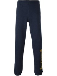 Gosha Rubchinskiy Logo Embroidered Slim Fit Track Pants Blue