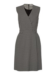 Marella Debutto Sleeveless V Neck Print Dress Black